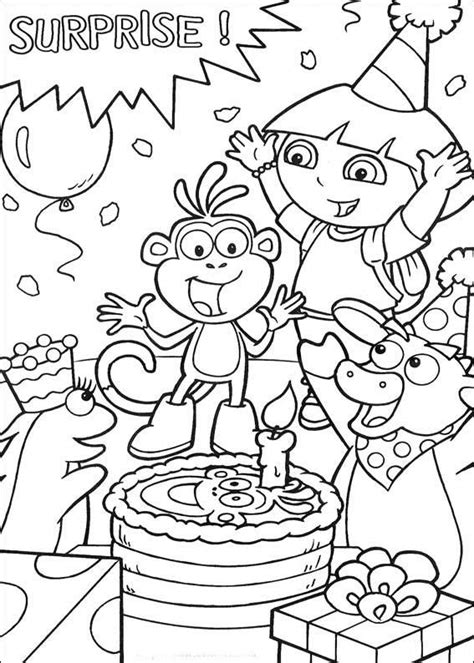 Dora The Explorer Coloring Pages Coloring Kids 1801 Coloring Pages The Explorer