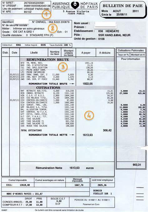 bulletin de paie fonctionnaire territorial exemple bulletin de salaire fonction publique territoriale