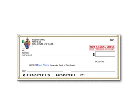 personal check printing template bank cheque bank cheque template word