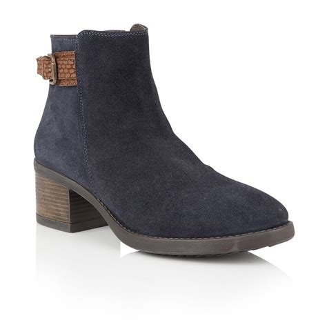 navy suede alder ankle boots lotus boots from lotus