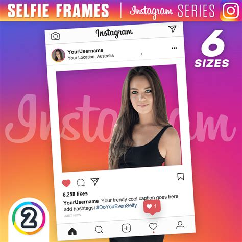 design at poto instagram buy instagram selfie frames online australia from 65 00