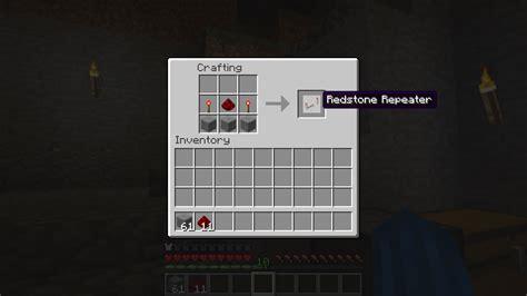 Minecraft Redstone L Recipe the minecraft redstone repeater recipe easy step by step