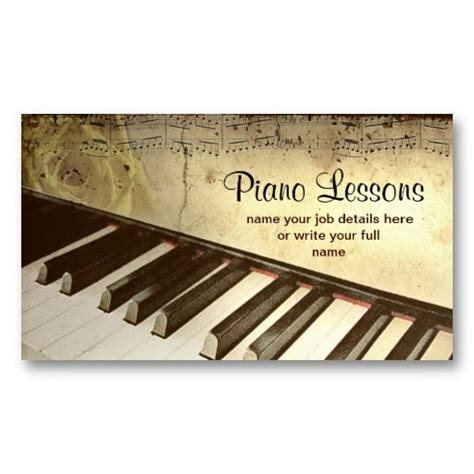 piano template card 20 best piano business cards images on