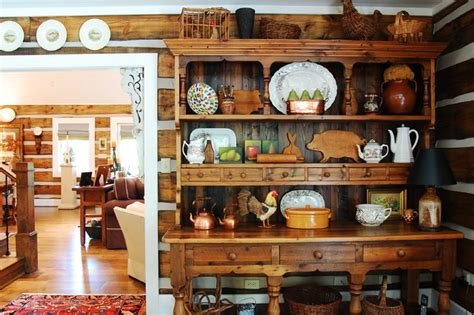Decorating Ideas For A Kitchen Hutch My Houzz A Rustic Stress Free Mountain Home In Mentone