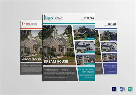 publisher real estate flyer templates home real estate flyer design template in word psd