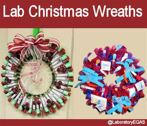 med lab christmas door laboratory and biomedical science lab wreaths
