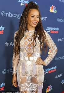 Mel Dress mel b wears eye popping see through dress on the america s