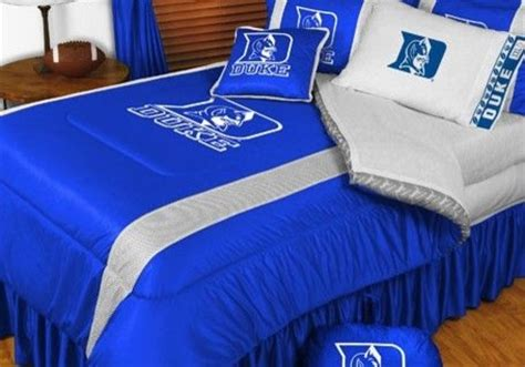duke comforter set duke blue devils ncaa bedding sidelines comforter and