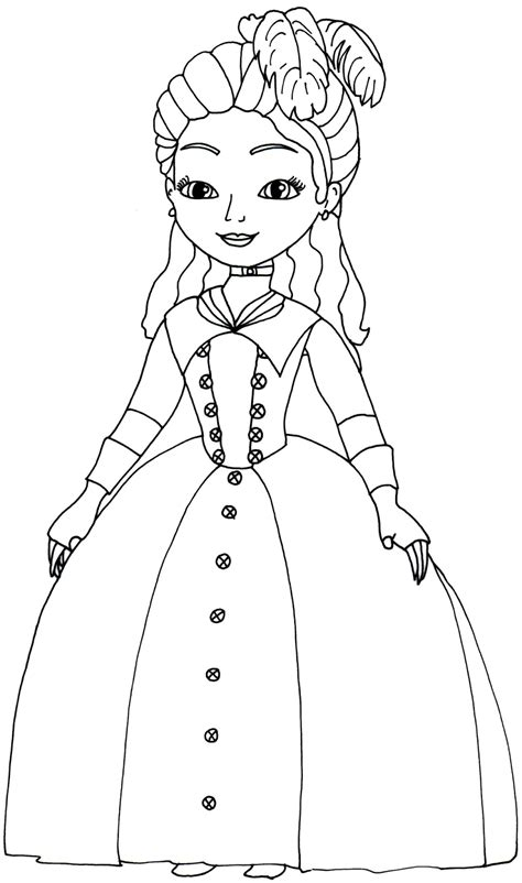 Sofia The First Coloring Pages March 2014 Sofia Princess Coloring Pages