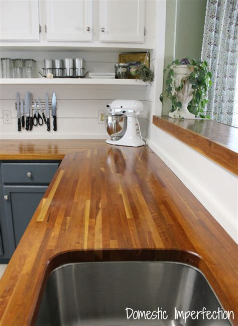 Kitchen Island With Shelves by My Butcher Block Countertops Two Years Later Domestic