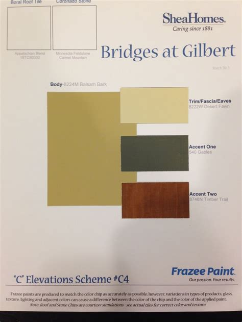 frazee paint colors chart images