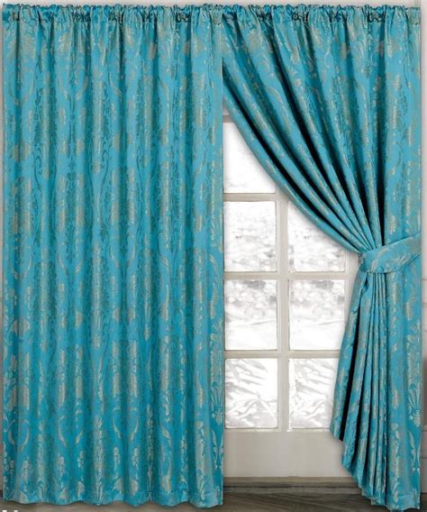 Teal Swag Curtains A Set Of Teal Swags And Tails Curtains Fits 90 Quot To