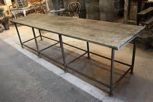 Industrial Table Sold 18 220 Long Industrial Table Sold