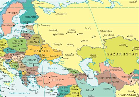 european asian map is russia in europe or asia map