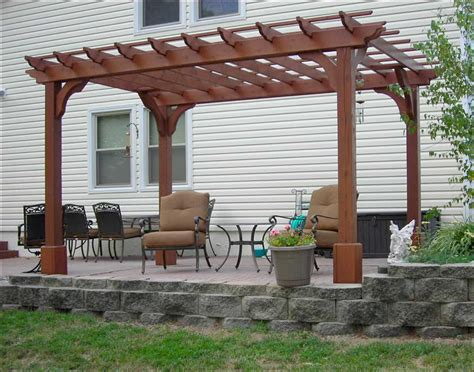 Red Cedar Vintage Classic Free Standing Pergolas Antique White Wooden Pergola For