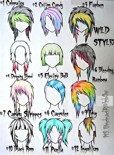 emo hairstyles drawing wild styles part 3 by rainb0w rand0m deviantart com on
