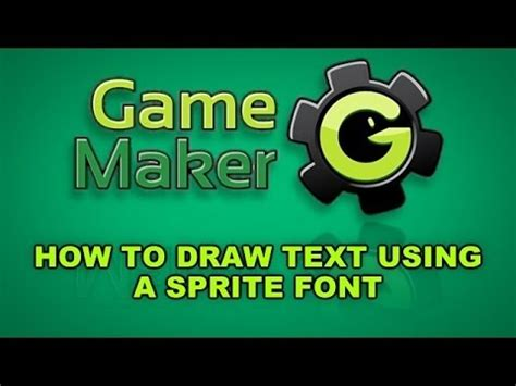 doodle text maker how to draw text using a sprite font in maker