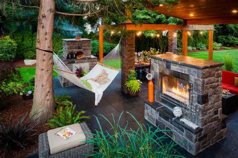 decorating backyard with lights backyard hammock ideas design trends