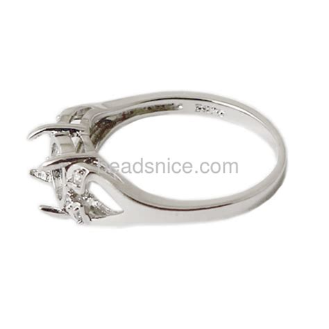 wholesale wholesale ring settings without stones for 925