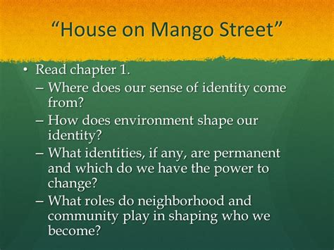 house on mango street themes for each chapter house on mango street ppt download