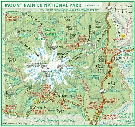 mt rainier national park map mount rainier national park map adriftskateshop
