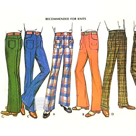 sewing pattern jeans mens mens pants 1970s pattern jeans or classic cut straight