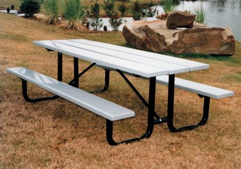 commercial picnic table vmwt6pphdcp 6ft commercial picnic table 2 attached 4ft