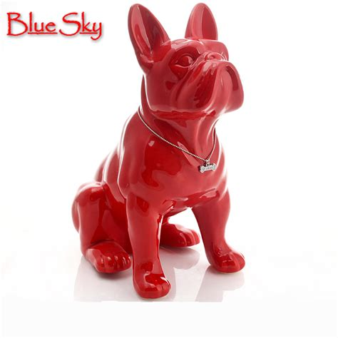 ceramic bulldog home decor crafts room