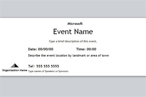 event ticket template free event ticket template