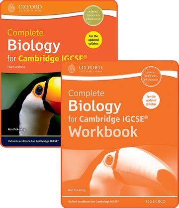 cambridge igcse biology workbook complete biology for cambridge igcse 174 student book and workbook pack oxford university press