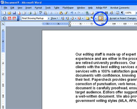 word print layout microsoft track changes using the track changes feature