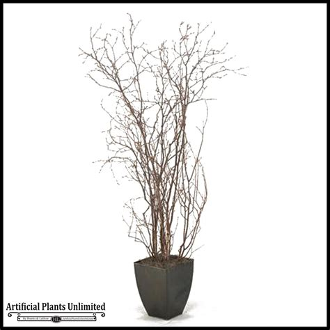 Planters With Birch Branches 6 5 birch branches in square metal planter