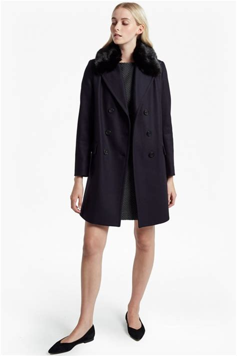 Breasted Faux Fur Coat s coats jackets winter coats connection
