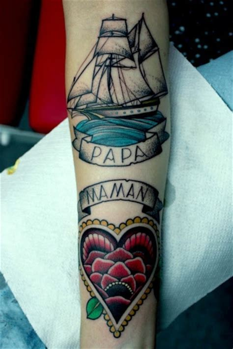 dad and mom tattoo on arm best tattoo design ideas