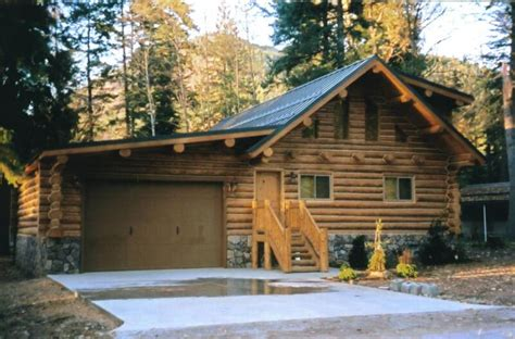 log cabin garage 26 x 38 log cabin with garage clearwater log structures
