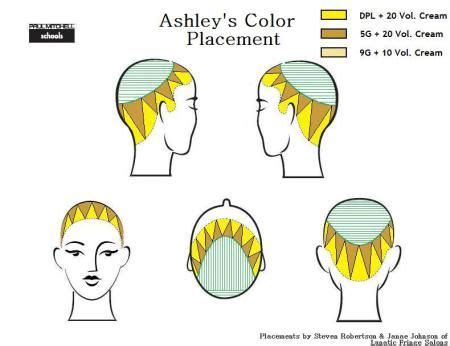 hair color and foil placement techniques 13 best foiling techniques images on pinterest hair