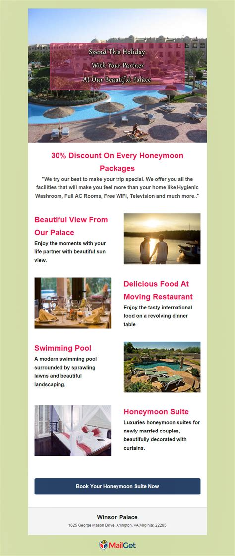 promotional email templates 5 free hotel email marketing templates formget
