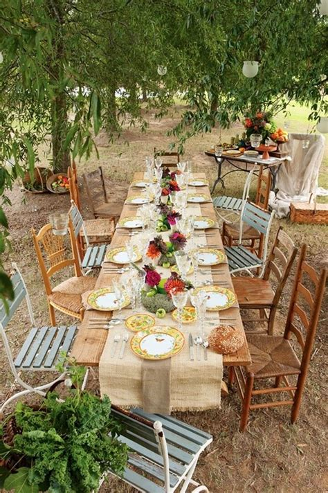 rustic tablescapes 10 country chic rustic wedding tablescapes