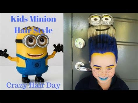 miniun hair style kids minion hair style quot crazy hair day quot youtube