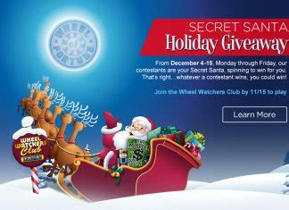 Wheel Of Fortune Com Secret Santa Sweepstakes - sweepstakesmag sweepstakes and giveaways to win cash cars trips more