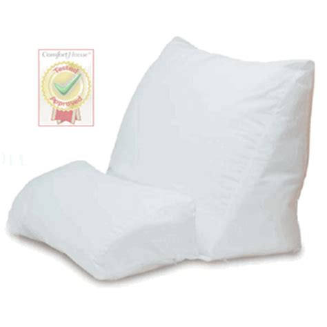 pillow for reading in bed contour products flip pillow