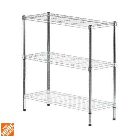 Hdx Shelf Storage Unit by Hdx 3 Tier 35 7 In X 36 5 In X 14 In Wire Home Use Shelving Unit Eh Wshdi 006 The Home Depot