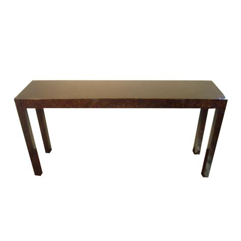 60 sofa table 60 quot vintage tortoise shell finish parsons style console