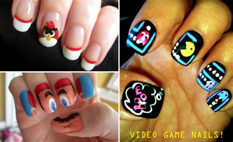 design nail art games video game manicures beautylish