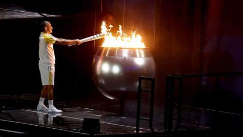 Lighting Olympic Torch by 2016 Olympics Opening Ceremony Vanderlei De Lima