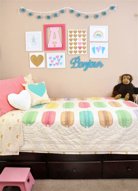pink and teal bedroom ideas pink teal macaron heart themed girls room ideas