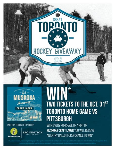 Hockey Giveaways - great toronto hockey giveaway julian irwin design