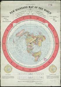 World Flat Map by Wernher Von Braun And Nasa Lies The Truth Is In The