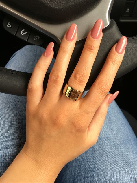Colors That Go With Salmon by Top 55 Wonderful Oval Shaped Nails