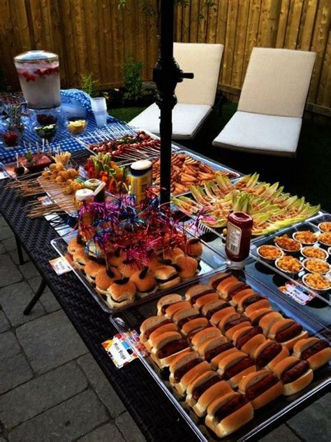 backyard bbq engagement party ideas outdoor bbq i like that all of the food is quot mini